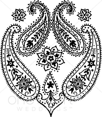 340x388 Paisley Clipart Wedding Designs