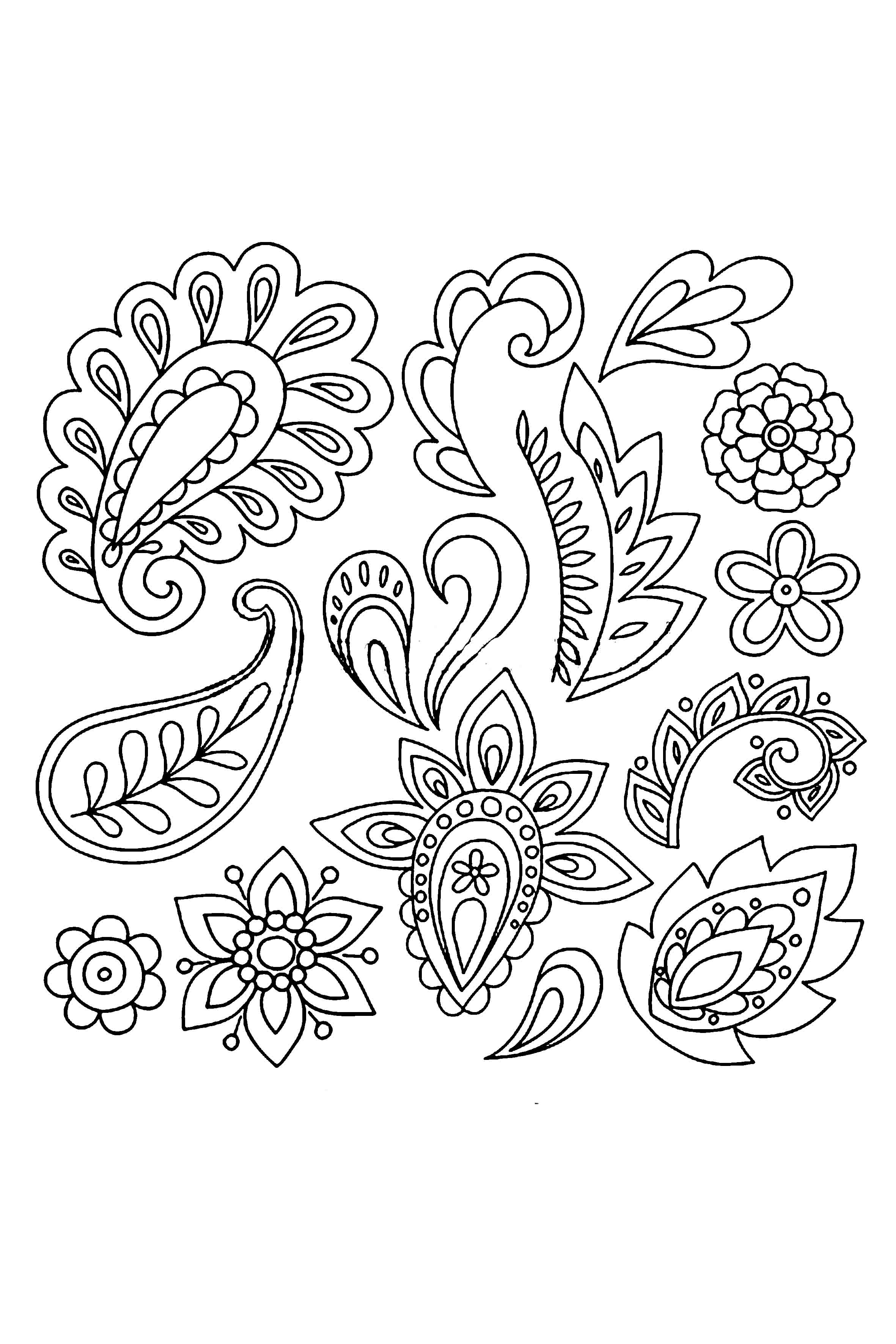 2362x3543 22 New Simple Paisley Henna Designs