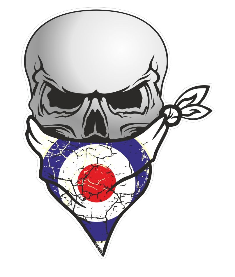 807x949 Gothic Biker Pirate Skull With Face Bandana Amp Mod Style Raf