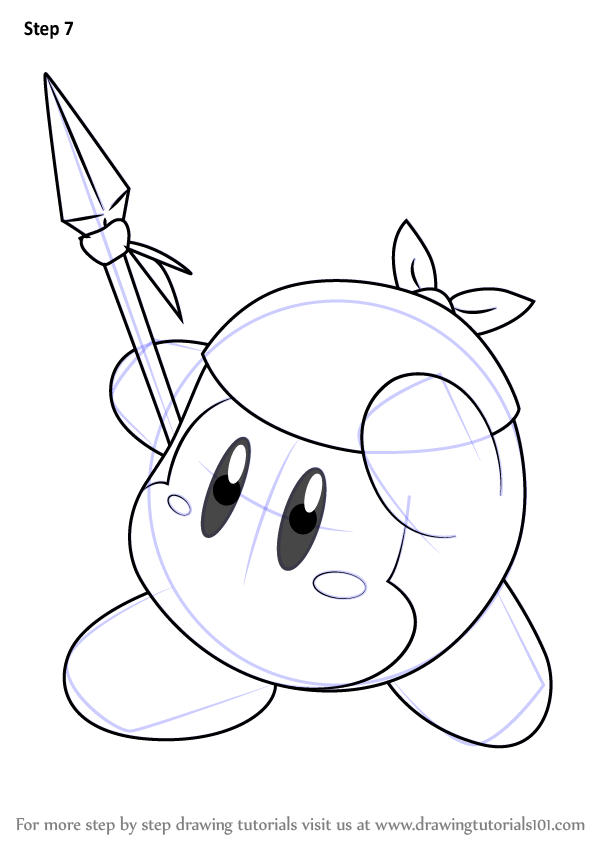 598x844 Learn How To Draw Bandana Waddle Dee From Kirby (Kirby) Step By