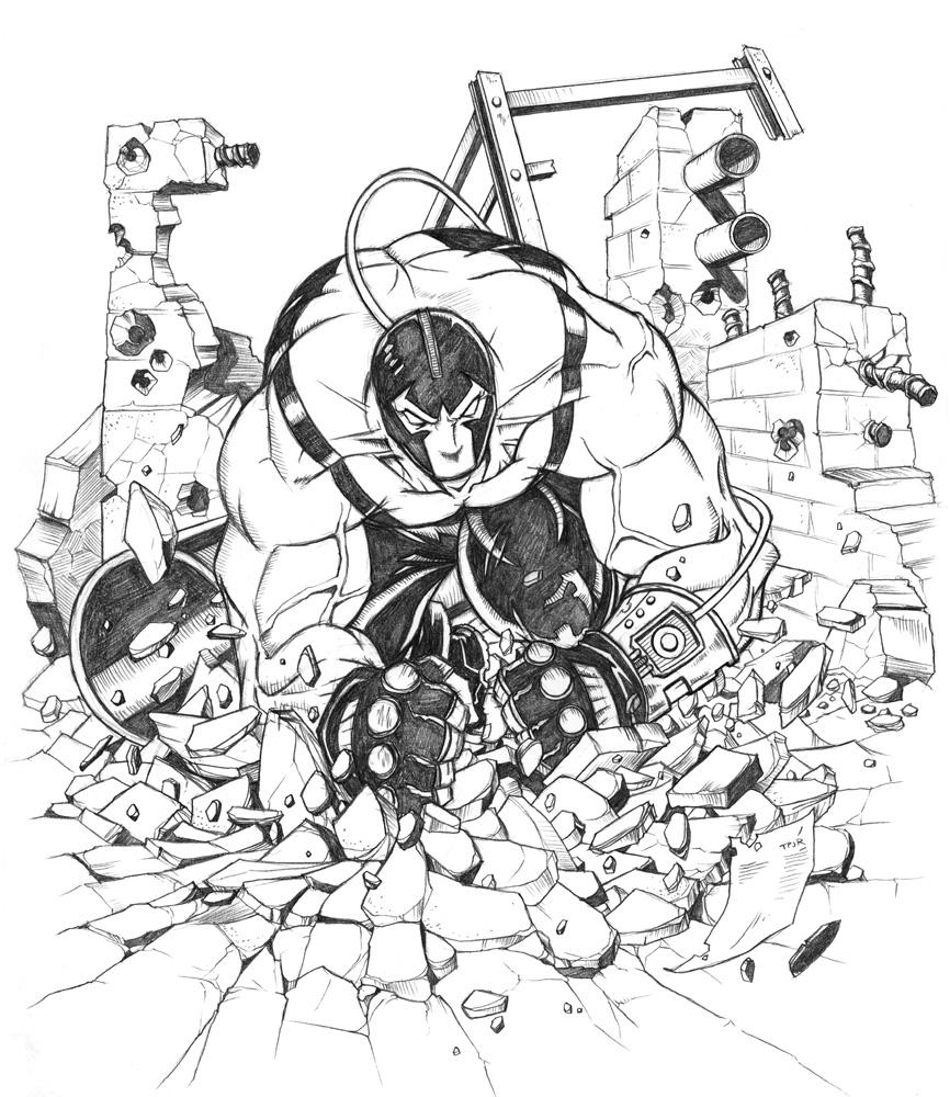 866x1000 Bane Sketch, In Tom Pollock Jr's Pollock Gallery Comic Art Gallery