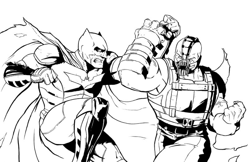 800x522 Bane Coloring Pages Batman Vs Inks By AndrewKwan On