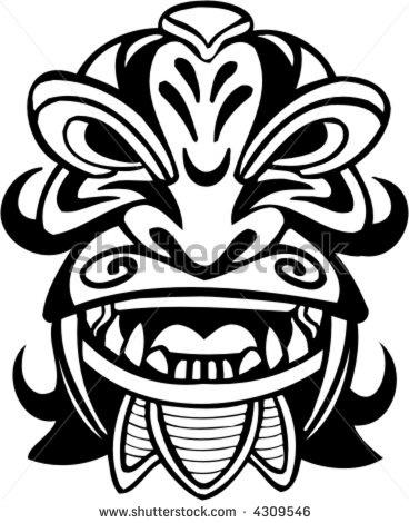 Bane Mask Drawing