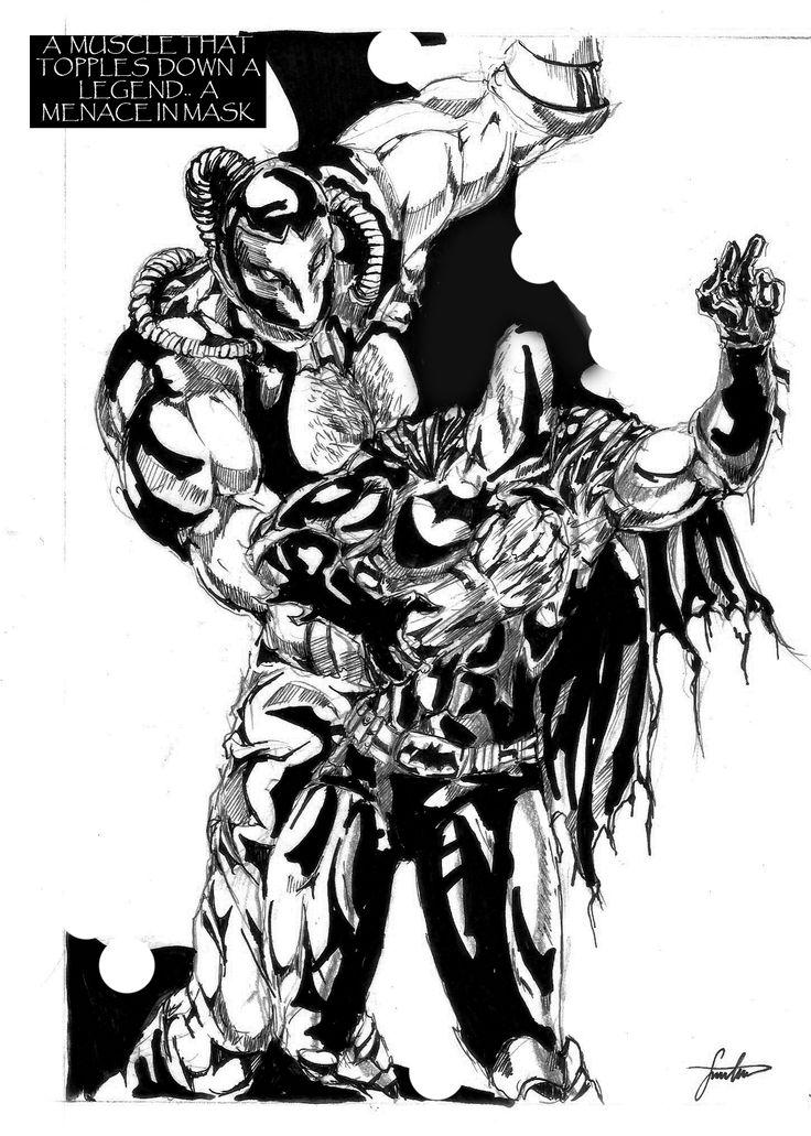 736x1031 Batman Versus Bane. Ribs Are Crushed My Comic Art Samples