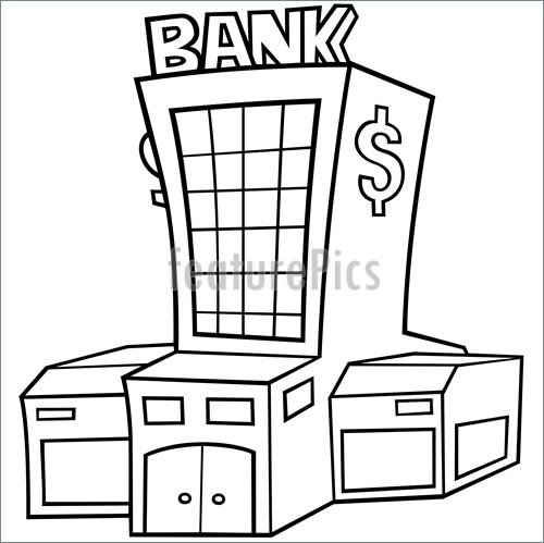 500x499 Bank Stock Illustration I2769888