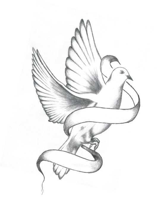 542x720 Dove With Banner
