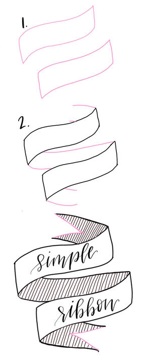 288x703 How To Draw A Banner Inderecami Drawing