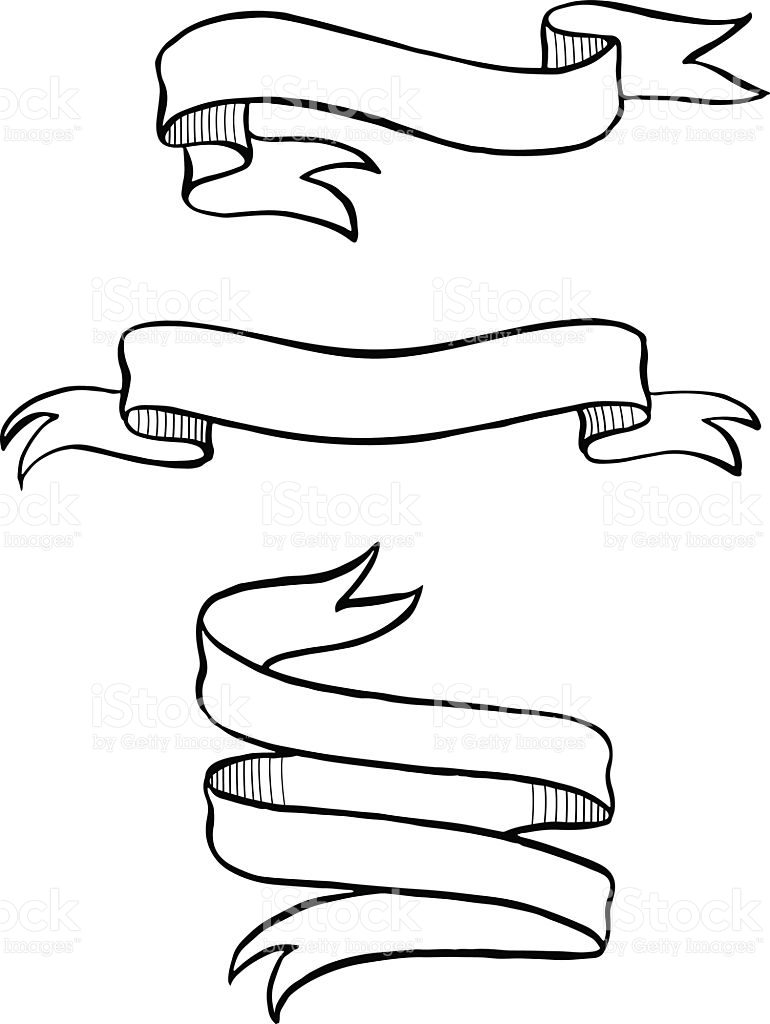 770x1024 Ribbon Banner Drawing Theveliger