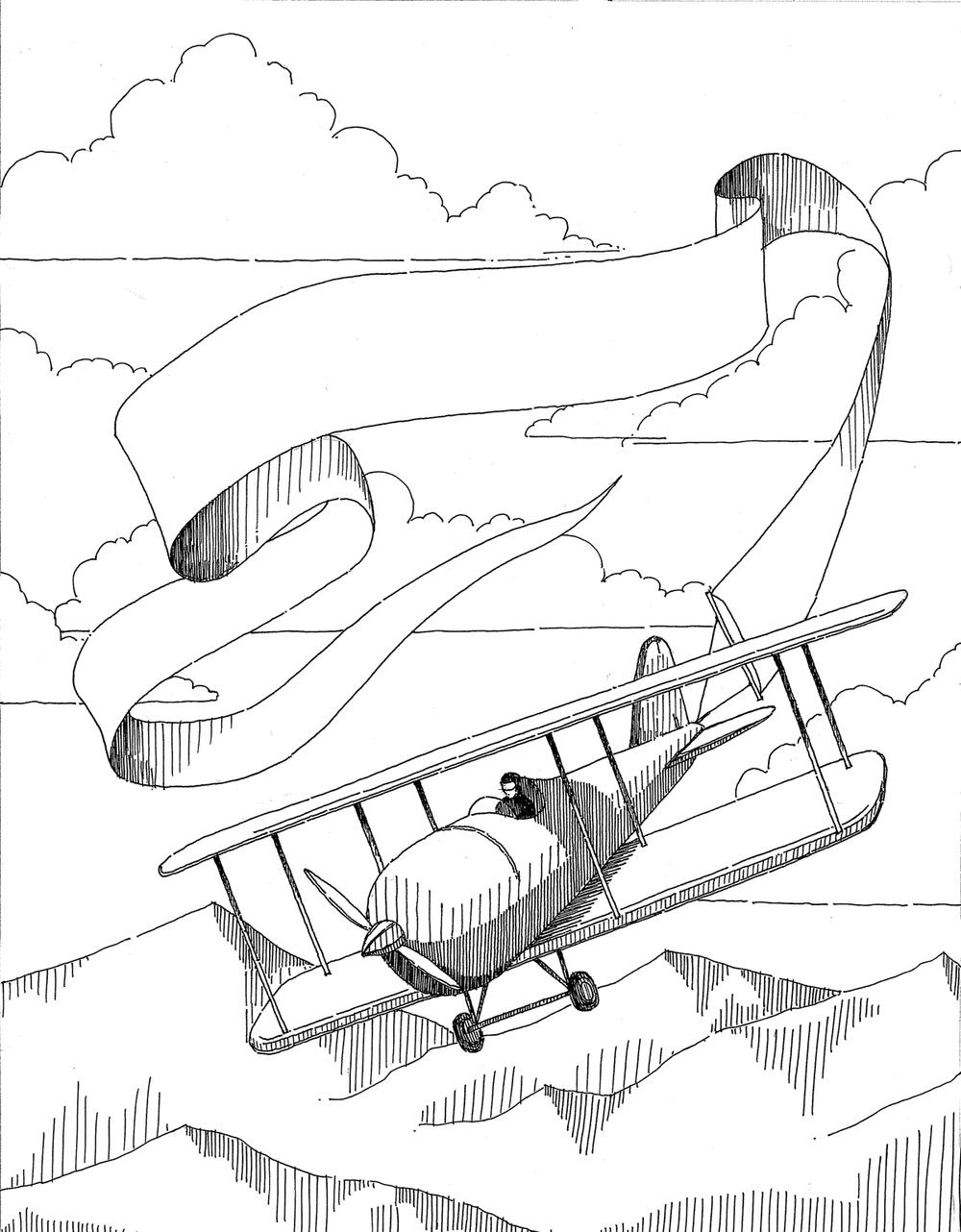1000x1282 Airplane Towing Banner (11x14) Naomi Leeman