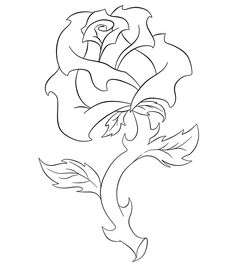 236x271 Rose And Banner Line Art. By ~jdd27105 On Line Art