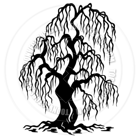 460x460 Cartoon Willow Tree Silhouette By Clairev Toon Vectors Eps