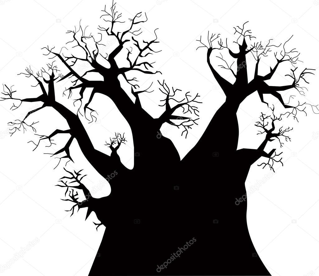 1024x888 Baobab Tree Stock Vector Vabadov