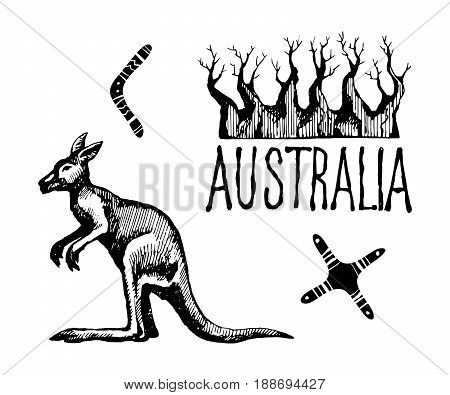 450x395 Australia Symbols Signs. Vector Vector Amp Photo Bigstock