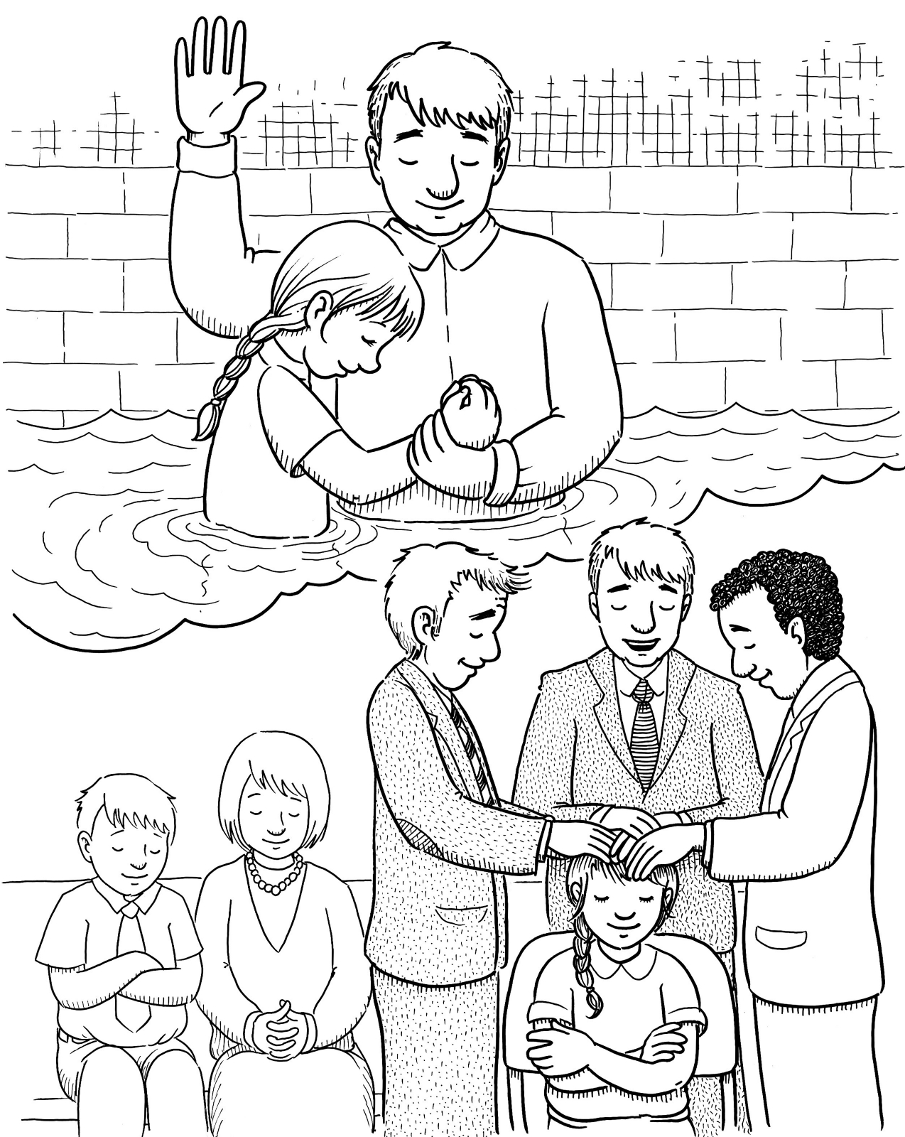 Baptism Drawing at GetDrawings.com | Free for personal use Baptism ...
