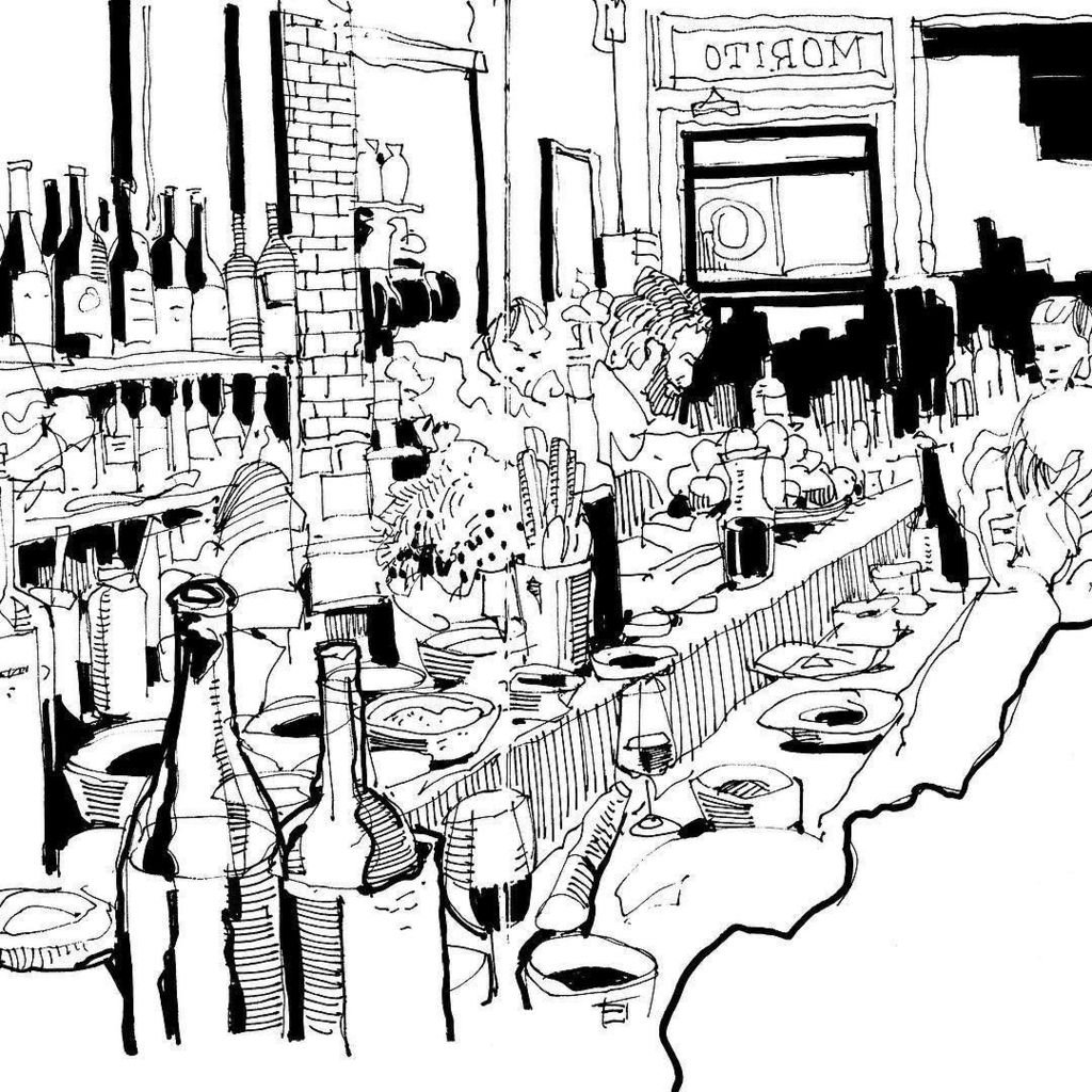 1024x1024 Phil Dean On Twitter Tapas Bar Sketching Courtesy Of @morito