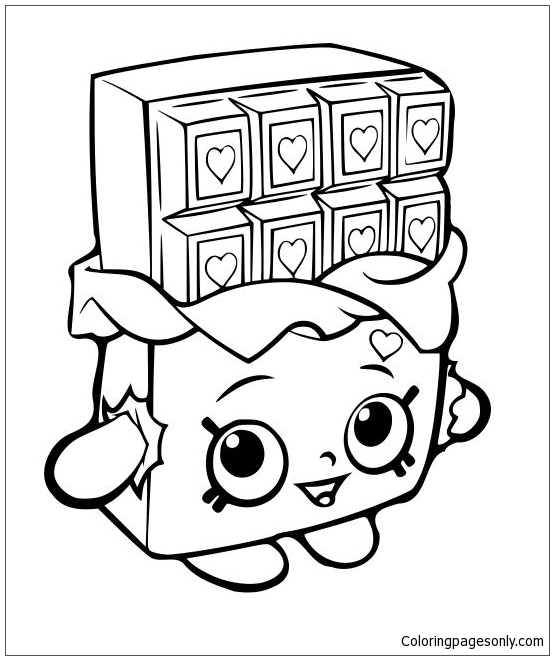 554x660 Shopkins Chocolat Bar Coloring Page