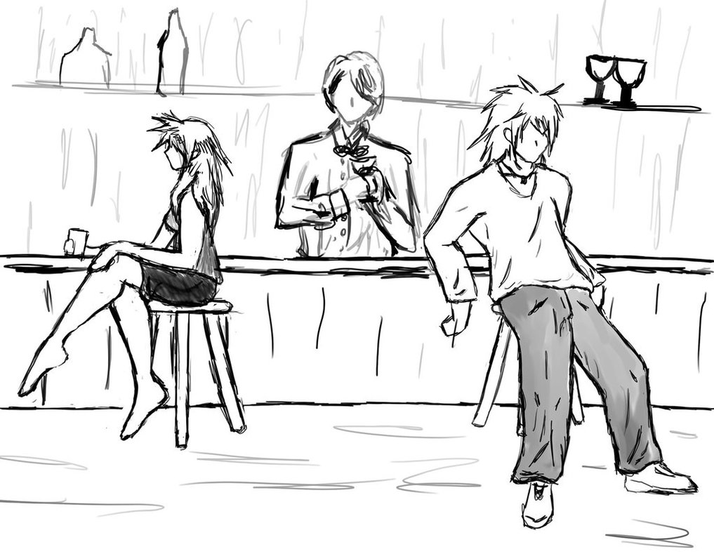 1017x786 The Bar Scene By Flurrydancer