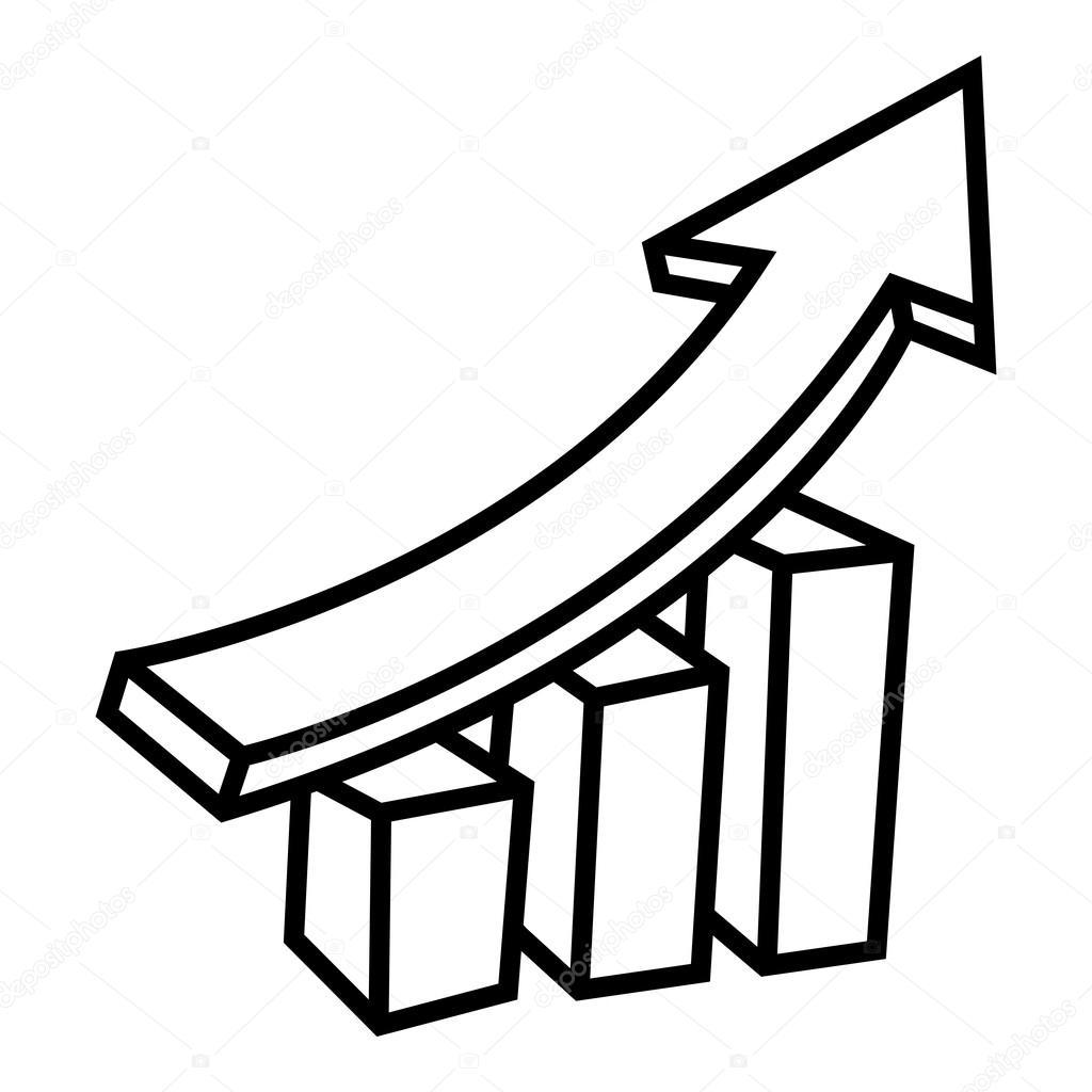 1024x1024 Business Bar Graph Vector Icon Stock Vector Briangoff