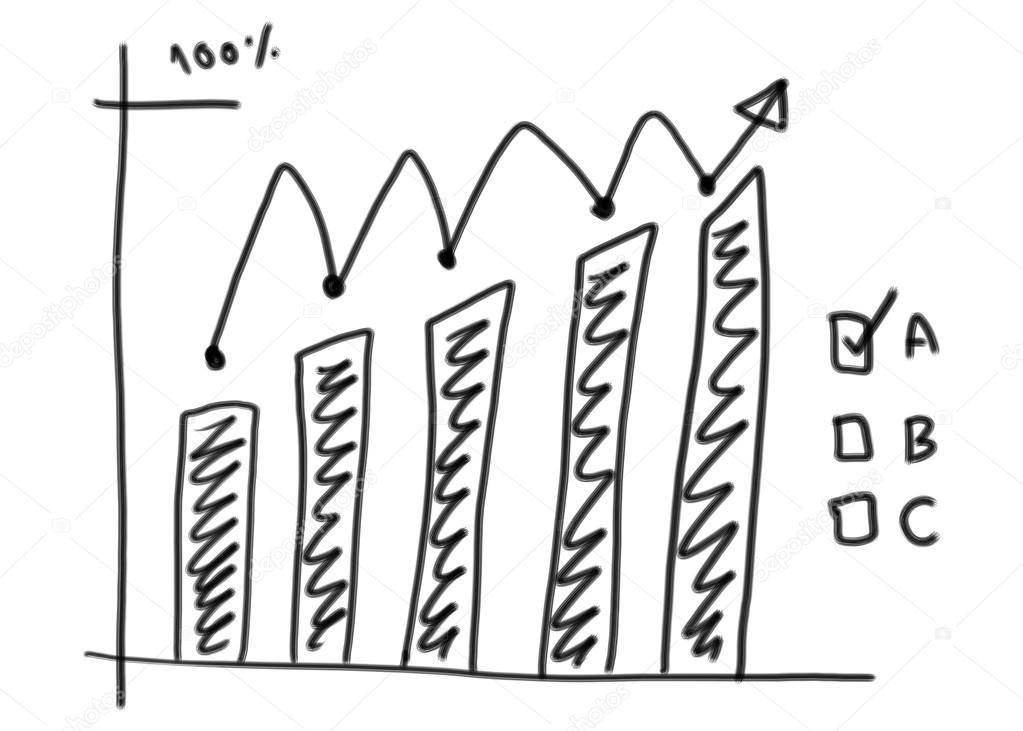 1023x731 Business Bar Graph Create In The Hand Drawn Design And Grow Arro