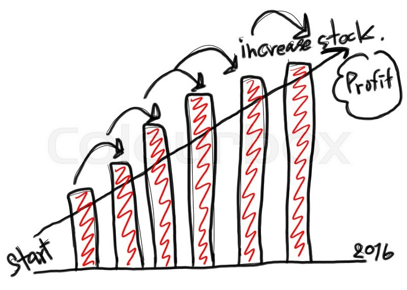 800x571 Business Bar Graph Create In The Hand Drawn Design And Grow Arrow