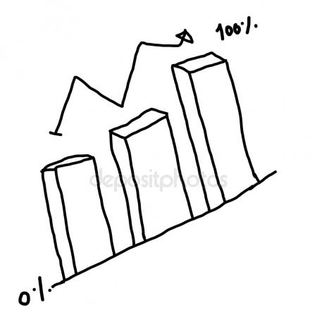 450x450 Hand Drawn Growing Bar Graph Stock Photo Dragana.stock@gmail