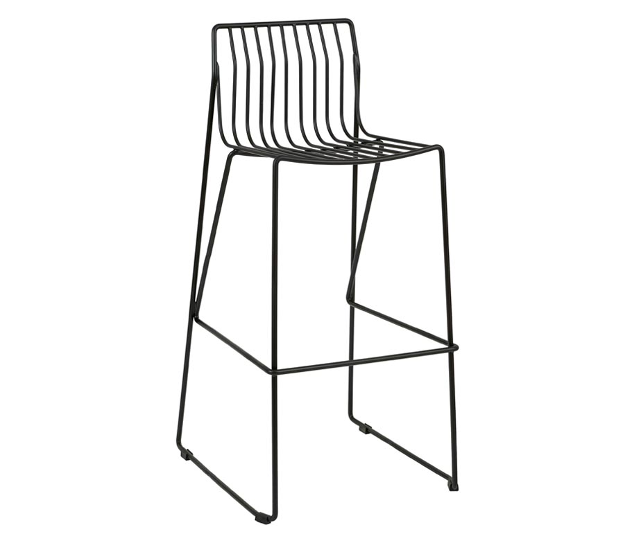 924x784 Eddy Bar Stools Steel Wire Frame With Sled Legs