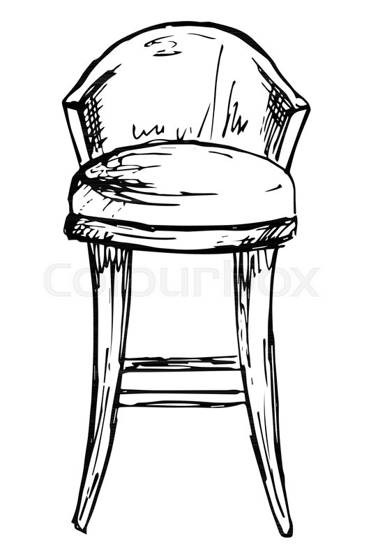 532x800 Bar Chair Isolate On White Background. Vector Illustration In