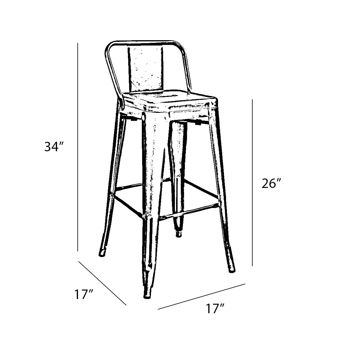 1144x1144 Williston Forge Despres Low Back Steel Counter 26 Bar Stool