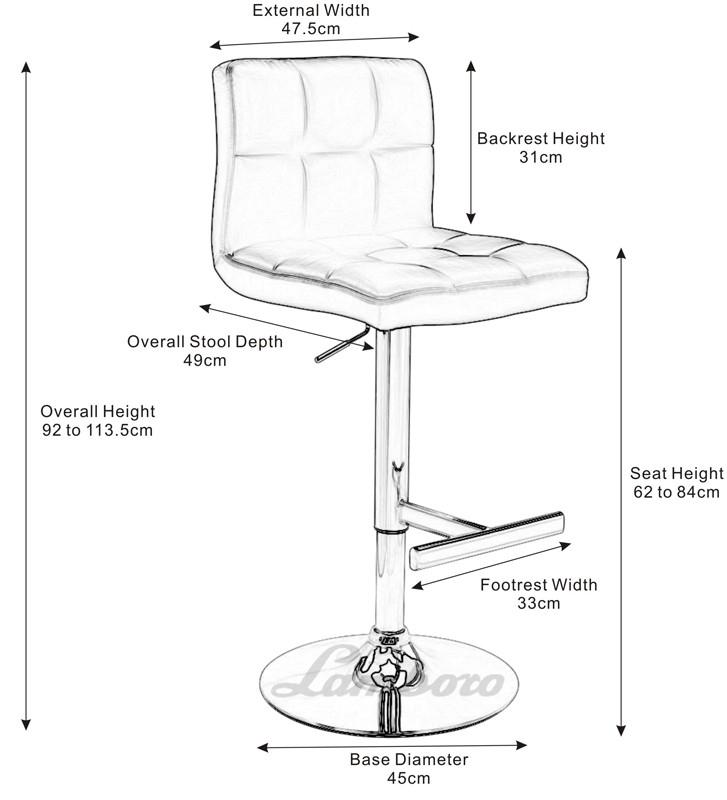 727x800 Bar Stool Diameter Regarding Your House