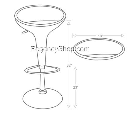 470x392 Bar Stool Drawing