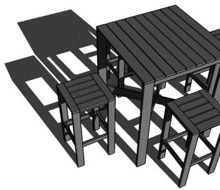 450x390 Ana White Build A Outdoor Modern Bar Table X Base Ezol Decor