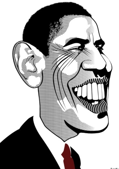 Barack Obama Cartoon Drawing