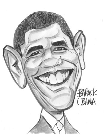 348x450 Image Detail For Barack Obama Caricature