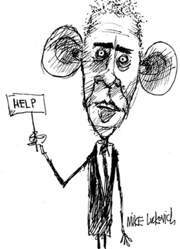 260x360 Luckovich's Lament Cartooning Obama Is Gonna Be Tough Huffpost