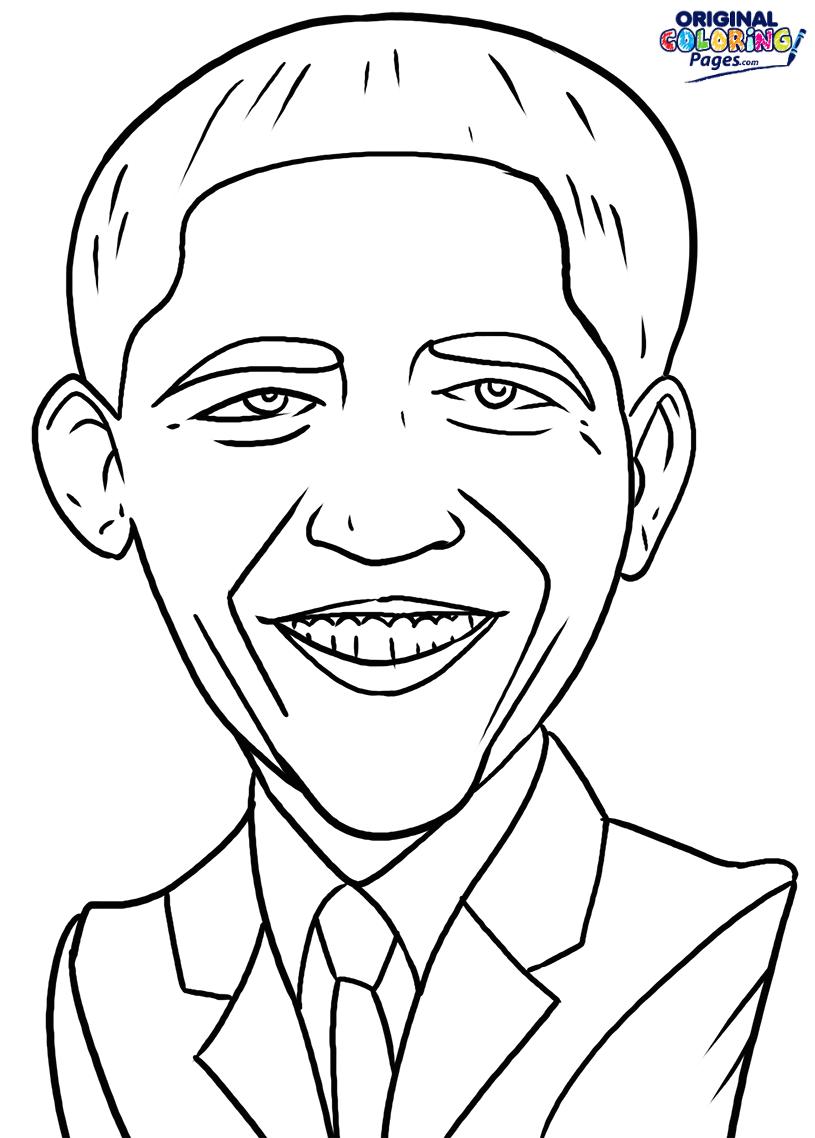 Contemporáneo Barack Obama Para Colorear Molde - Ideas Para Colorear ...