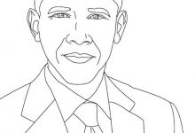 220x150 Barack Obama Coloring Pages