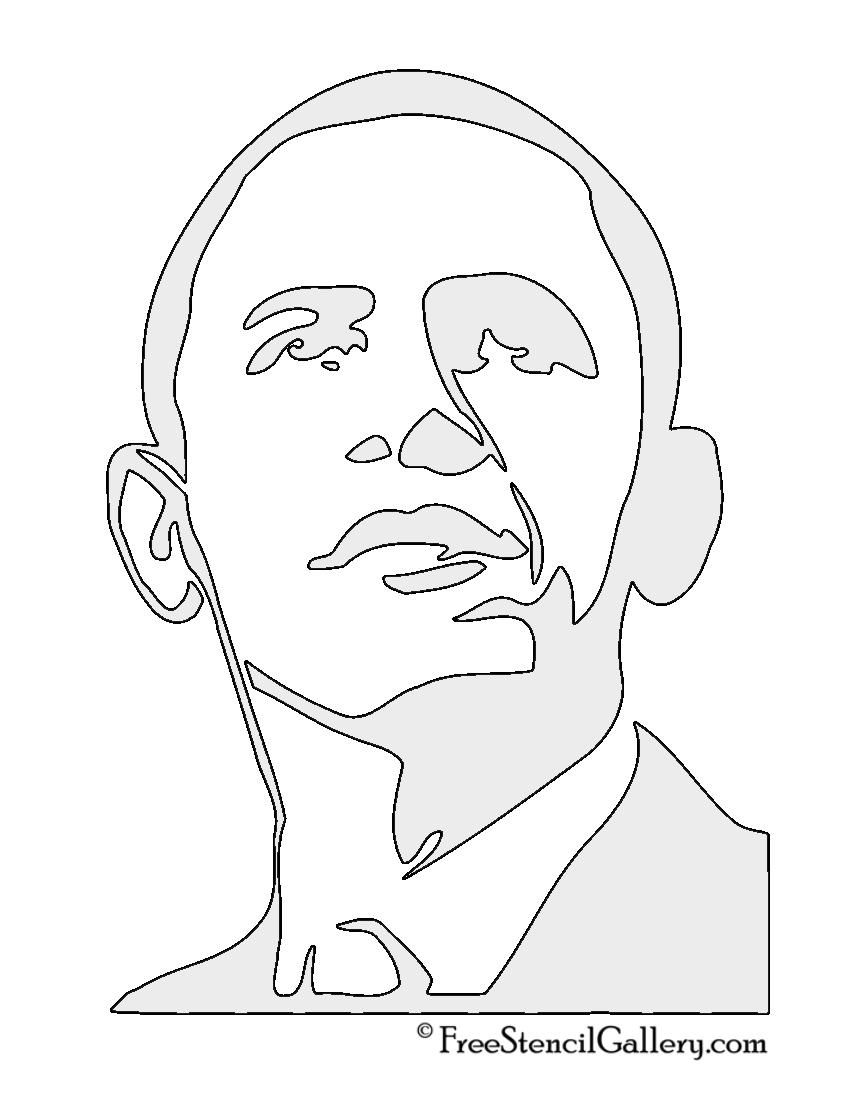 851x1100 Barack Obama Stencil 2 Free Stencil Gallery