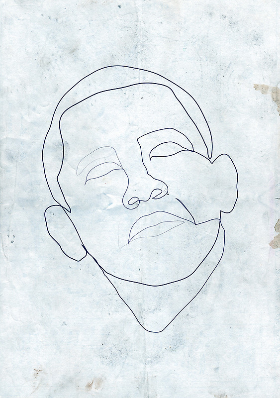 563x800 Barack Obama One Line Drawing. Art Prints By Borol Redbubble
