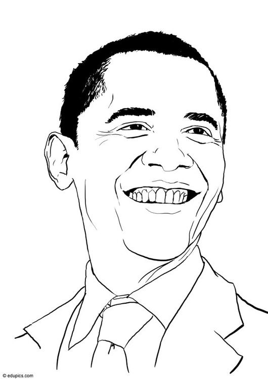 530x750 Coloring Page Barack Obama