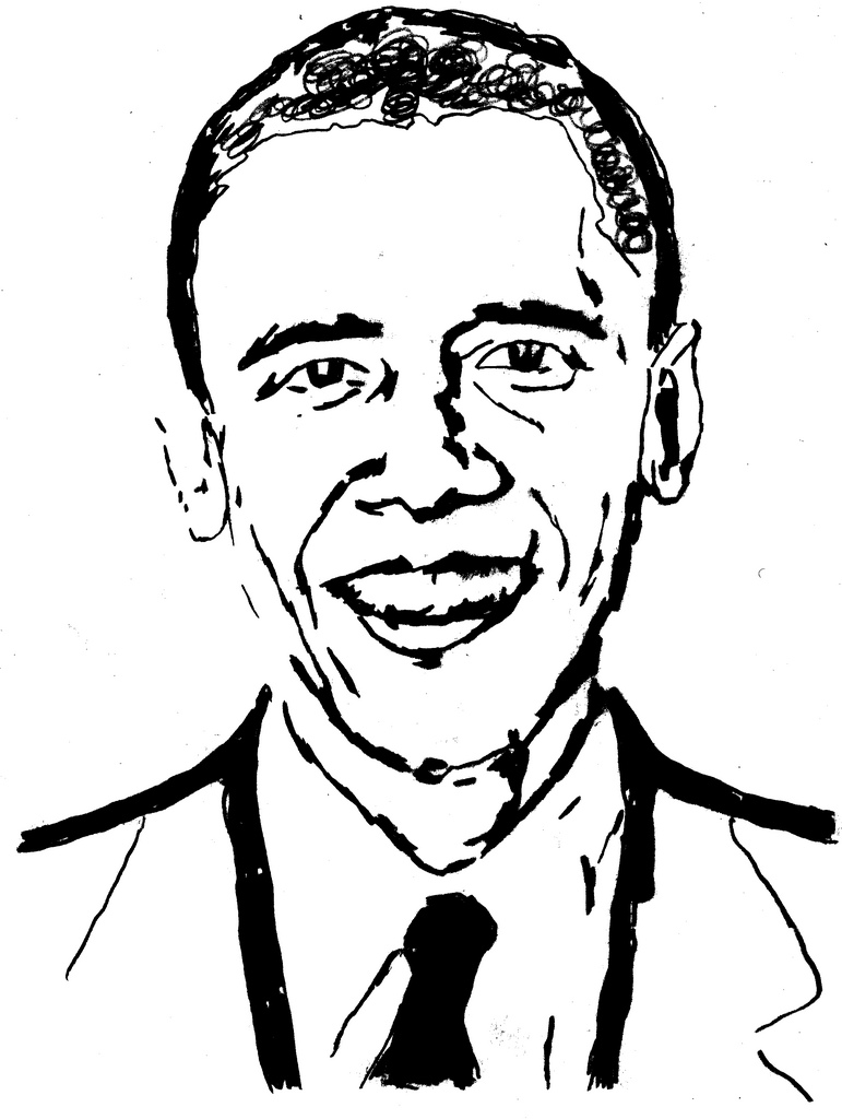 771x1024 Drawing Barack Obama This Is My Drawing