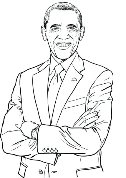 428x600 Awesome Barack Obama Coloring Pages Kids Best Book Ideas Images On