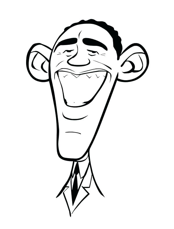 600x788 Simple Barack Obama Coloring Page New Book Caricature Of Family
