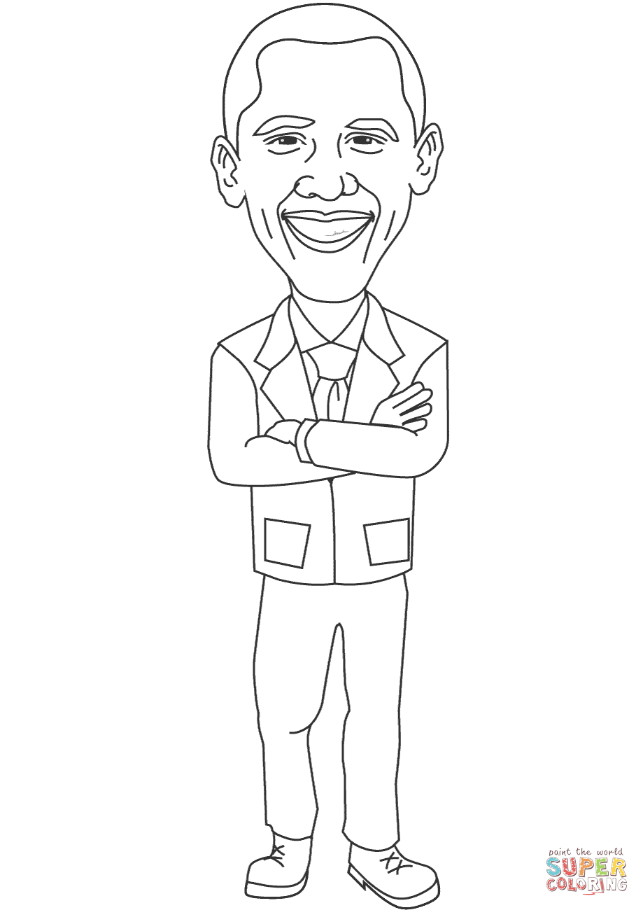 President Obamas Day Coloring Pages - Worksheet & Coloring Pages