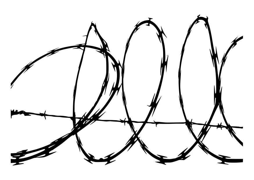 Dorable Razor Wire Clip Art Ensign - Electrical and Wiring Diagram ...