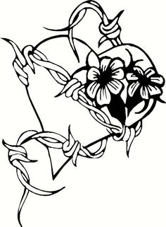 236x321 Image Result For Barbed Wire Bleeding Heart Tattoo Tattoos