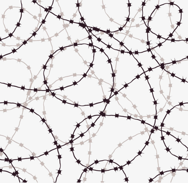 650x632 Barbed Wire Vertical And Horizontal Shading Vector, Shading
