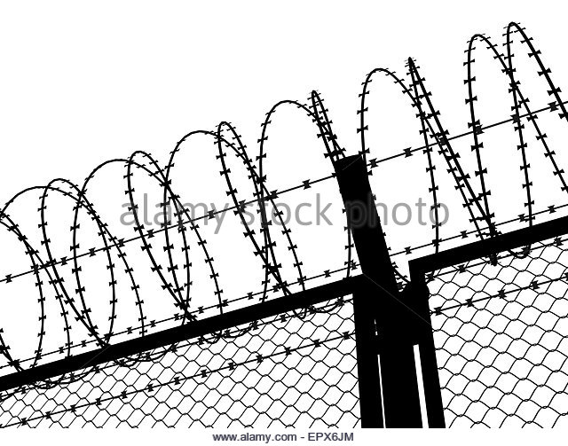 640x503 Fence Barbed Wire Silhouette Illustration Stock Photos Amp Fence