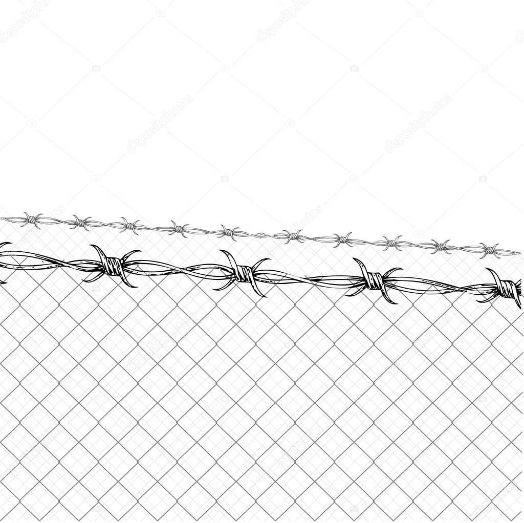 1024x1022 Barb Wire Fence. Prison Fence Drawings. Free Images. Barb Wire