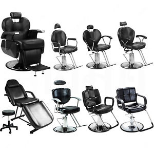 300x300 All Purpose Hydraulic Barber Chair Reclining Black Chair Beauty