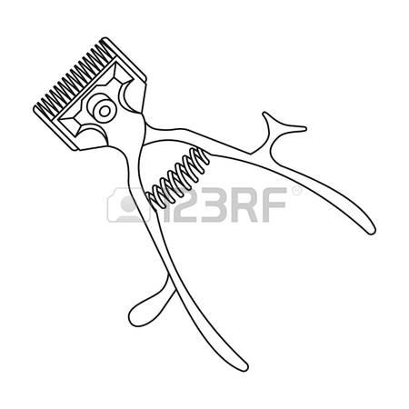 Barber Clippers Drawing